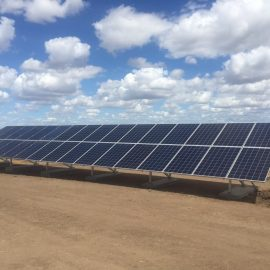 Agricultural solar panels