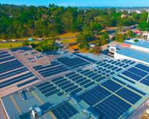commercial solar project
