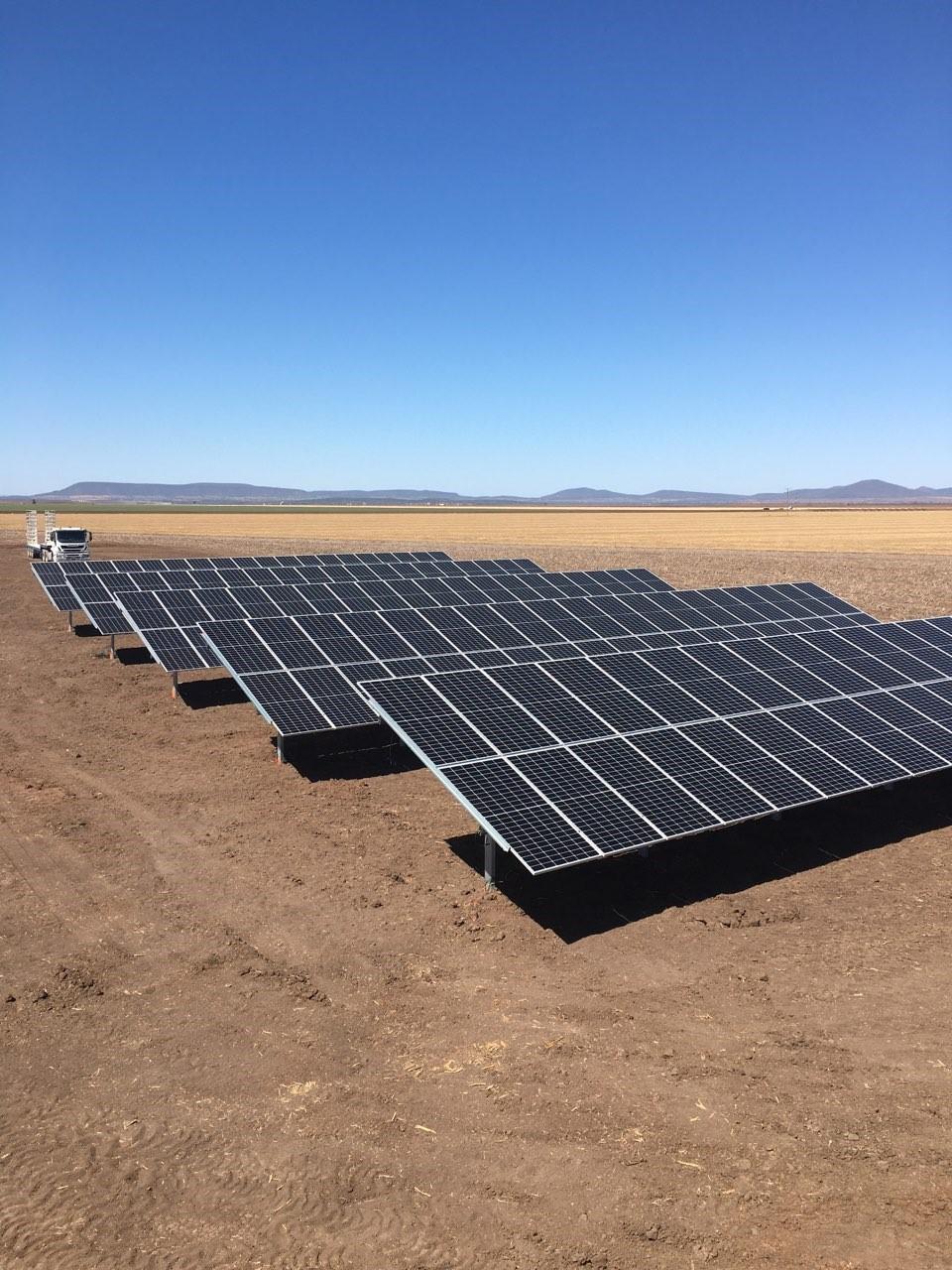 rural solar project